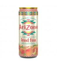 AriZona Fekete tea Barack ízű 0,33l